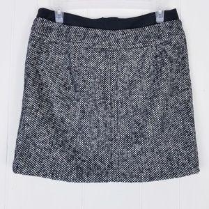 Loft Tweed Mini Skirt Size 6P Wool Blend